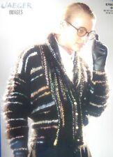 "JAEGER Knitting Pattn 5785-Ladies Mohair Shawl Collar Jacket 34""-42"" Not a copy"