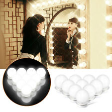 10 Led Bulbs Hollywood Mirror Lights Vanity Makeup Bathroom Dressing Table Light