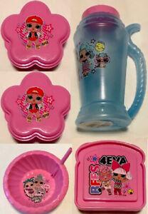 LOL Surprise Toddler Girls 5-Piece Container & Water Bottle Set Plastic BPA Free