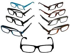 CLOSEOUT MEN OPTICAL READING GLASSES LOT WHOLESALE  9 ASST MEN +1.25 MR3512
