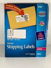 "Avery® 5163 Shipping Labels TrueBlock® Tech 2"" x 4"" WHITE Laser 650 Labels"