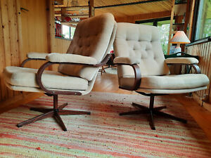 Sessel Drehsessel Vintage 60er Easy Swivel Chair 70er Danish Modern 60s 1/2
