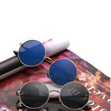 Men Vintage Polarized John Lennon Sunglasses Hippie Retro Round Mirrored Glasses