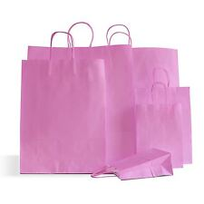 20 x Pink Paper Party Bags Twisted Handle 25x24+11cm Birthday Gift Favour