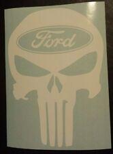 Vinyl Decal Sticker..Punisher Skull..Ford..Car Truck Window