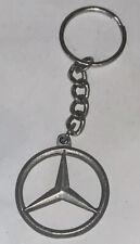 Mercedes-Benz Logo Keychain Key Ring Fob Auto Car Mercedes Emblem Silver Tone Kj