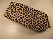 J Press Vintage NWT!! Burlington Knot Cream and Green Neet Wool Challis Tie