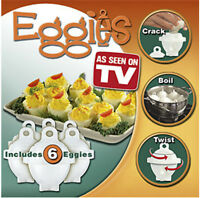 Hard Boiled Egg Cooker 6 Eggies Without Shells & Separator As see on TV tool