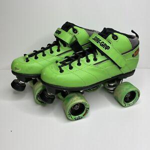 Sure Grip Rebel Roller Skates Green Derby Womens US Size 8 SG-6888