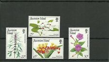 ASCENSION ISLAND-SG643-646-FLOWERS-MNH