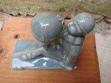 Ancienne statuette en terre vernissée Pierrot french antique