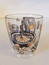 Vintage Casino Juice Shot Glass Gambling Slot Machine Roulette Chips Betting