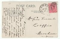 Victoria OMEO 1907 duplex cancel on postcard