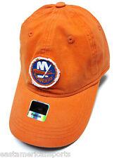 New York Islanders NHL Reebok Orange Slouch Hat Cap Patch Logo Adult Adjustable