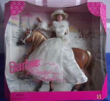 Barbie Winter Ride Gift Set Doll Horse 1998 NRFB Excellent Condition Christmas