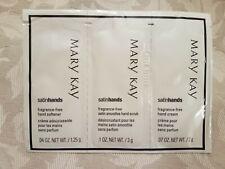 Mary Kay Satin Hands Sample Size Hand Softener+Hand Scrub+Hand Cream Frag. Free