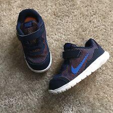 Nike Athletic Shoes Toddler Boy Blue Orange Size 8