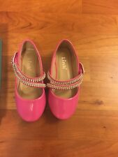 Girls hot pink jeweled DRESS SHOES patent leather