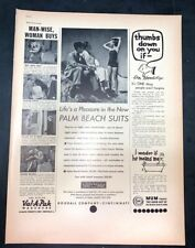 Life Magazine Ad Palm Beach Suits Goodall Company & Val-A-Pak & MUM 1937 AD A2
