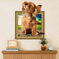 3D Wandtattoo Wandsticker Wandbild Haustiere Hund Welpe Kinderzimmer #178