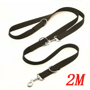 UK Control Dog Lead Leash Adjustable Training Lead Double Ended 6ft Police Style