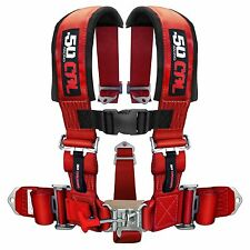 3 Inch 5 Point Harness Seat Belt RZR 900 SandRail Buggy Truck Red Yamaha Rhino