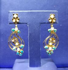 Gold Ear Rings in 22k Solid Yellow Gold (Tall)