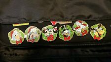 Disney DLR 2006 Disneyland Resort Holiday Wreath Hotel Lanyard  Pins lot of 6