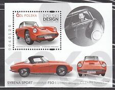 POLAND 2016 **MNH SC#  Souvenir Sheet - The Polish Design - The Polish Car