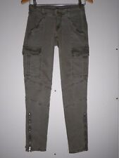$231 J Brand 1229 Houlihan Zip Cargo Pants in Vintage West Point Size 25 MINT