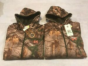 NWT UNDER ARMOUR WOMEN'S REALTREE CAMO HUNTING FULL ZIP HOODIE JACKET M L $85