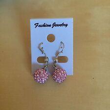 Pink Shamballa Earrings