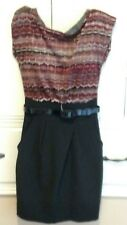 NWT, Speechless Black and Red Dress with Belt, Ladies/Juniors Size 1, NWT