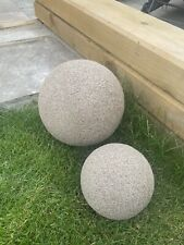 Stone Effect Resin Balls 23cm Dia And 16cm Dia. 3.3kg And 2.2kg