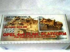 OPEL 4x4 FLAK PLATFORM Wespe Models 1:35 SCALE - resin kit 35008