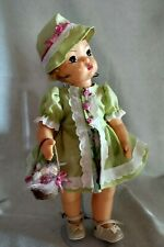 "5 Piece Redingote Sun Dress Hat Panties & Basket for 16"" Terri Lee Doll"