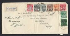 BMA Overprinted Malaya stamps from Singapore to England By Airmail KGVI Cover