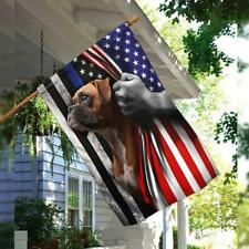 Boxer American Us Flag Dog Lover Independence Day Gift Outdoor House Garden Deco