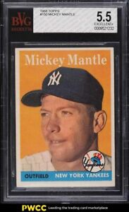 1958 Topps Mickey Mantle #150 BVG 5.5 EX+