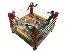 Lucha Libre Ring Pro Wrestlers La Parka/Dr Wagner/Pycho Lucha Fighters Ring