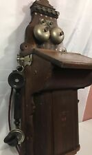 ANTIQUE DANISH  JYDSK TELEFON AKTIESELSKAB  WALL TELEPHONE 1900s