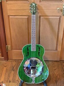 Vintage Michael Kelly Biscuit Resophonic Dobro Style Guitar & Case...