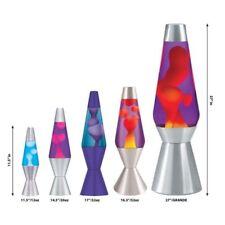 "Lava Lite 11.5"" Accent Lava Lamp, Red Wax/Clear Liquid/Silver Base Kids Room"