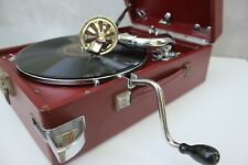 Antique His Masters Voice HMV Gramophone with crank England Classic turntable