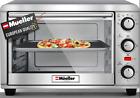 Mueller AeroHeat Convection Toaster Oven, 8 Slice, Broil, Toast, Bake, Stainless