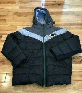 Nike Green Bay Packers Big Kids Hooded Synthetic Fill Puffer Jacket YOUTH XL NWT