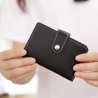 Women Credit Card Holder Wallet Mini Passport ID 26 Card Slots Coin Purse A