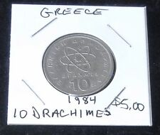 Very Nice 1984 Greece 10 Drachmes Coin