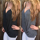 Hot Sexy Women's V-neck Summer Casual Vest Tops Sleeveless Blouse Tank Tops·