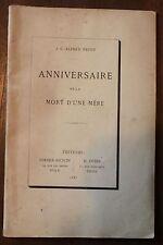 J.C.Alfred PROST- Anniversaire de la mort d'une mère -Dole Paris 1883 avec envoi